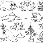 animales del mar para colorear