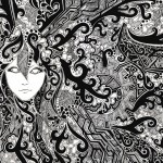 psicodelic wallpaper blanco y negro