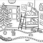 Dibujos Peppa Pig Navidad para colorear