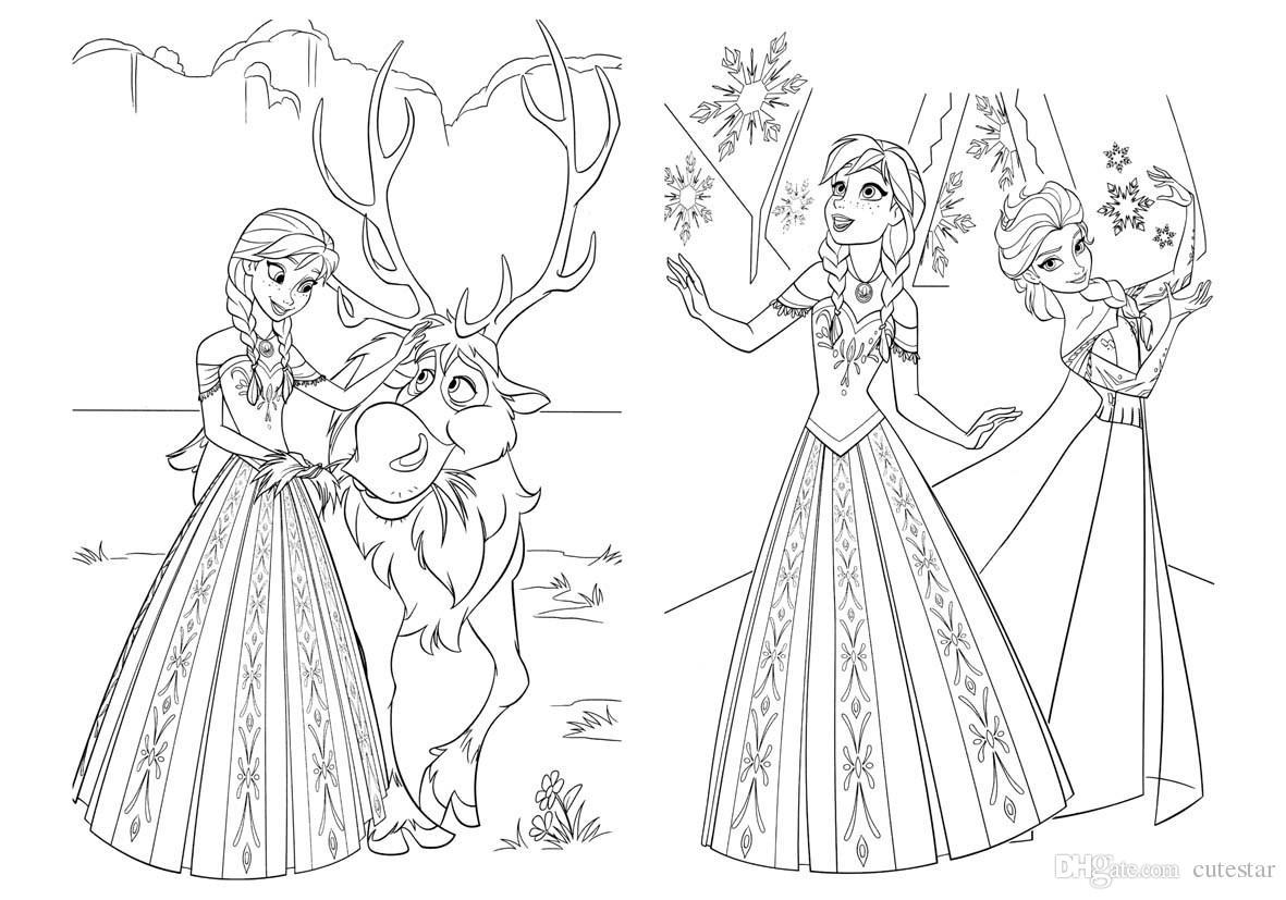 Dibujos Para Colorear E Imprimir De Frozen: Dibujos Bonitos Dibujos De Frozen