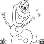 Dibujos de Olaf para colorear