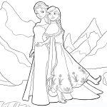 Frozen Ana y Elsa praa colorear
