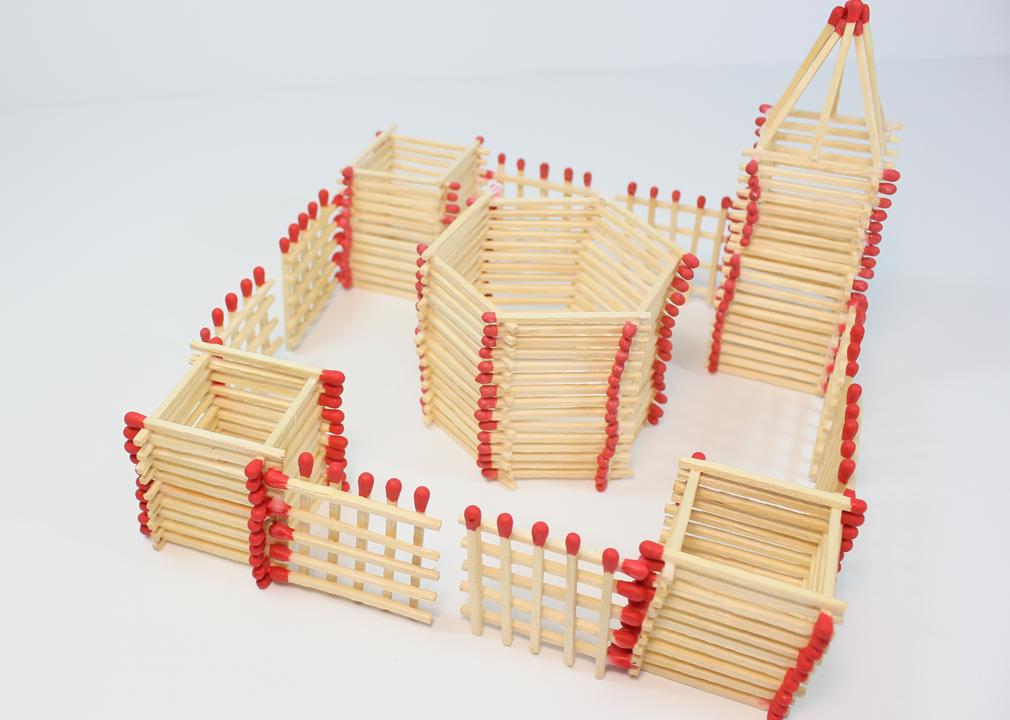 Castillo de juguete casero
